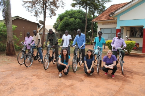 Distributing bikes as an incentive to the village health team workers (VHTs)